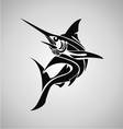 Tribal Marlin Fish vector image