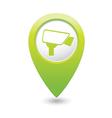 camera icon green map pointer vector image