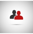 black and red flat icon people eps vector image