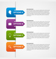 Abstract infographic template Design elements vector image
