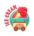 mobile ice cream truck vector image