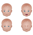Baby Faces vector image vector image