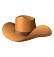 A brown hat vector image
