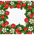 beautiful strawberries composition frame vector image