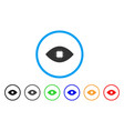 chip eye retina rounded icon vector image