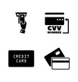 credit cards simple related icons vector image
