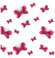 cute red butterfly seamless pattern vector image