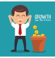 growth see the future concept vector image