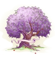 Image of a tree with leaves the tree of wisdom vector image