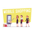 mobile shopping for women vector image