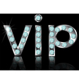 sign vip vector image