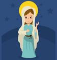 Virgin mary catholicism spirit image vector image