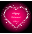 heart frame on pink background vector image vector image