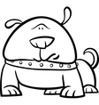 cute dog cartoon coloring page vector image vector image