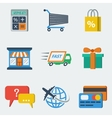 Shopping E-commerce Icons Flat vector image