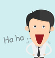 a Boy Laughing Out Loud vector image