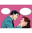Couple love dialogue vector image