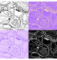 Four cosmetic seamless vector image