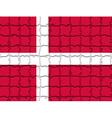 The mosaic flag of Denmark vector image