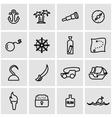 line pirate icon set vector image
