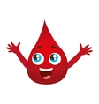 blood drop isolated icon vector image