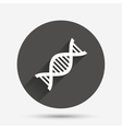 DNA sign icon Deoxyribonucleic acid symbol vector image