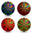geometric bubbles vector image