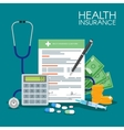 Health insurance form concept vector image