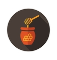 Honey flat icon with long shadow vector image