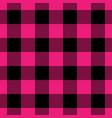 lumberjack plaid pattern in pink and black vector image