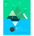 Modern abstract infographics elements vector image