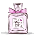 parfume love in paris vector image