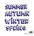 Seasonal fonts vector image