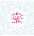 Stock fast food cover for menu vector image