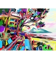 original abstract digital painting of italian vector image