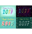 Happy New Year 2017 Space watercolor flowers vector image