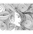 Abstract woman face vector image vector image