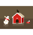 The dog and cat relation vector image vector image