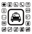 Public icons set EPS10 vector image vector image