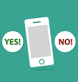 Mobile and Yes or no icon vector image