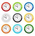 Wall clocks vector image