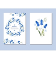 Floral spring templates with cute bunches of vector image vector image