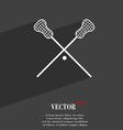 Lacrosse Sticks crossed symbol Flat modern web vector image