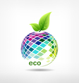 Colorful fruit ecology vector image