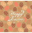 Happy easter design elements vector image vector image