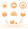 harvest designs vector image vector image