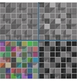 Abstract bright colored squares background mosaic vector image