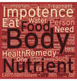 Cure ED Eat Healthy text background wordcloud vector image