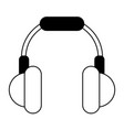 isolated headphones icon image vector image
