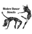 modern dancer stencils vector image